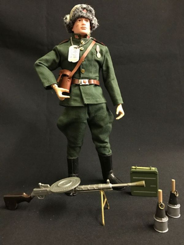 ACTION MAN - RUSSIAN INFANTRYMAN -Brown PAinted Haired ...